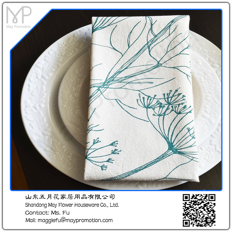 spring cotton printed kitchen towel