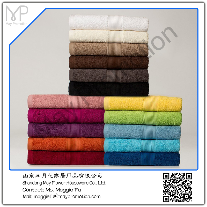cotton terry embroideried bath towel face towel beach towel