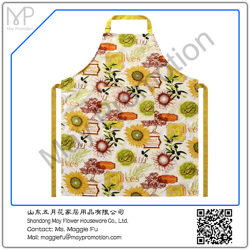 summer flowers cotton printing canvas Apron