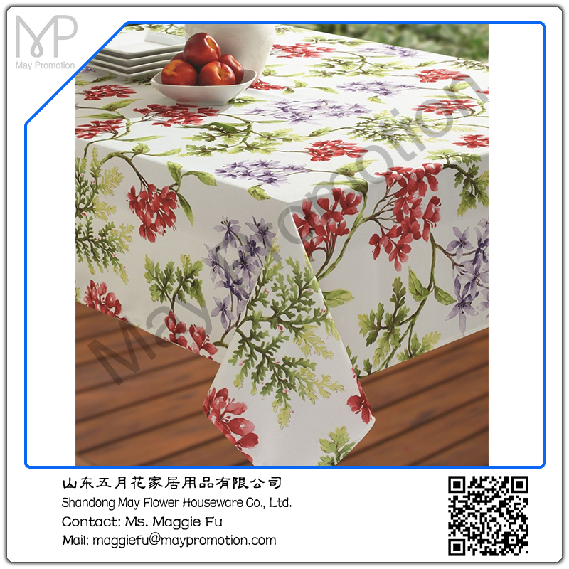 ... Stain Resistant Printed Polyeseter Leaves Table Cloth ...