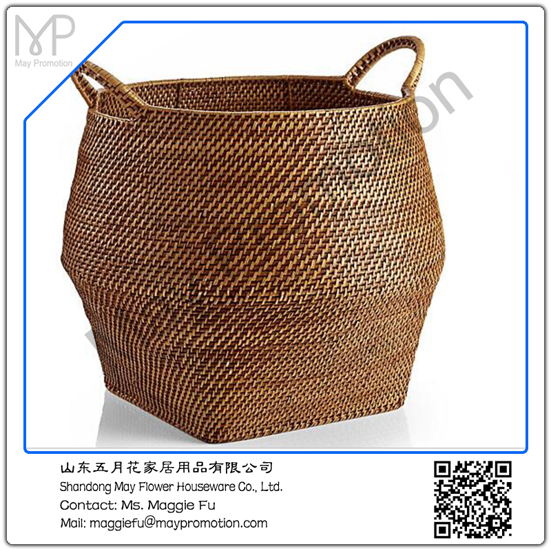 Honey Round Rattan Storage Basket