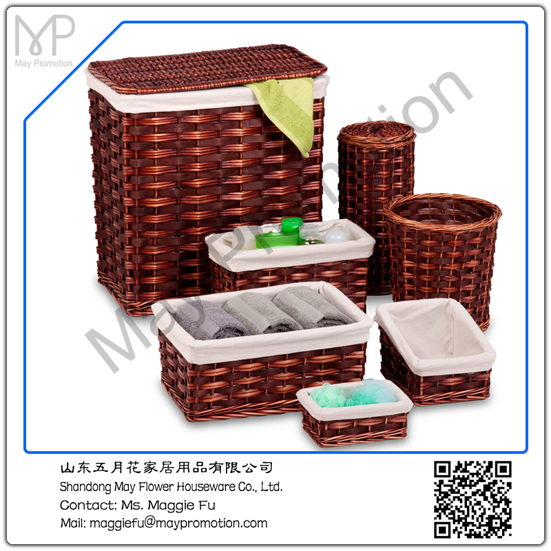 Storage Basket Set - Honey Brown Features