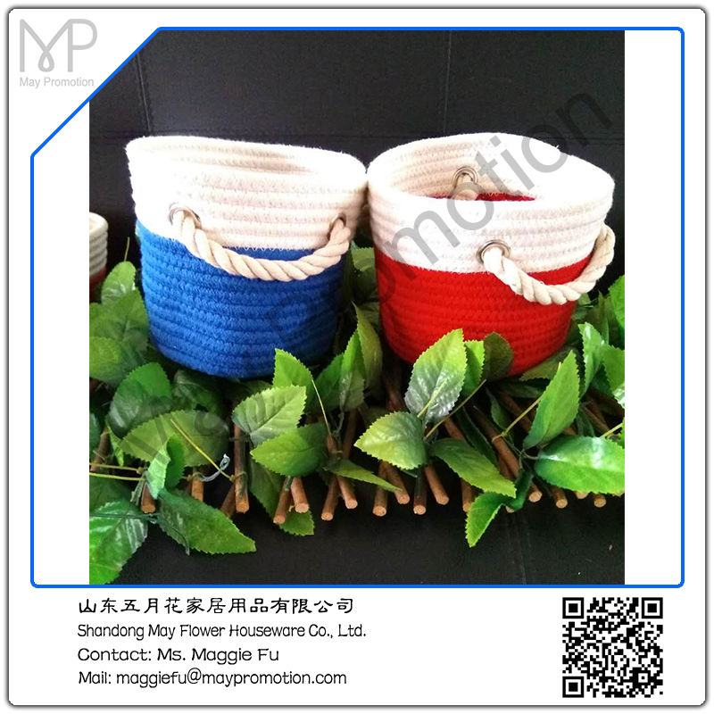 Wicker Laundry Basket rope woven basket